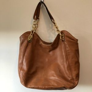 XL Michael Kors Brown leather shoulder bag/Tote